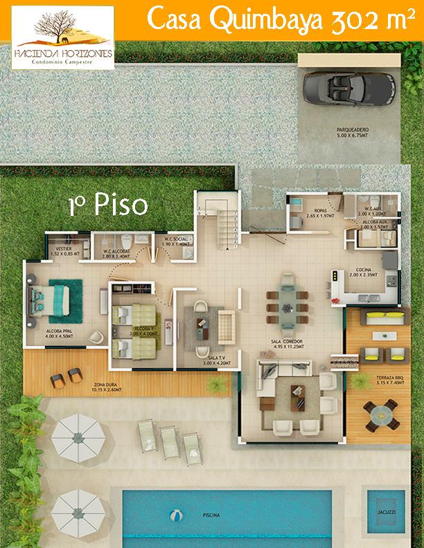CASA QUIMBAYA 302 M2 PISO1